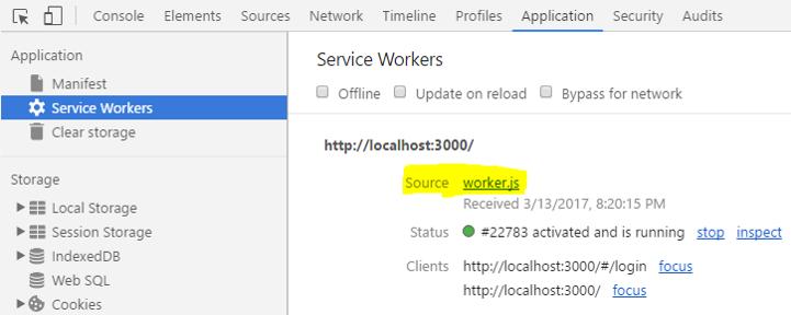 service-worker-running